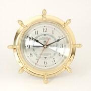 Bey-Berk SQ562 Brass Ship's Wheel Tide and Time Clock