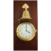 Bey-Berk SS552 Brass/Mahogany Striking Clock With Bell