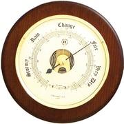 Bey-Berk WS072 Brass and Cherry Wood Barometer