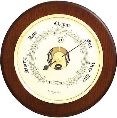 Bey-Berk Brass and Cherry Wood Barometer