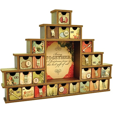 Kaisercraft Beyond The Page MDF Shadow Box With Drawers Advent Calendar