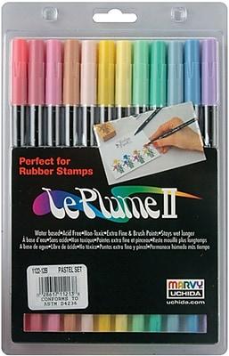 Uchida LePlume II Double-Ended Markers, Pastels