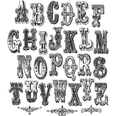 Stampers Anonymous Tim Holtz Mini Cling Rubber Stamp Set-Mini Cirque Alpha