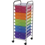 "Blue Hills Studio Storage Cart W/10 Drawers, 13"" x 38"" x 15.5"", Multi-Color"
