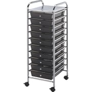 "Blue Hills Studio Storage Cart W/10 Drawers, 13"" x 38"" x 15.5"", Smoke"