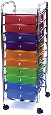 Https://www.staples 3p.com/s7/is/. ×. Images For Advantus Cropper Hopper  Home Center Plastic Storage Drawer Cart, 10 ...