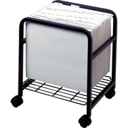 Advantus Cropper Hopper Heavy Duty Rolling Cart-Black