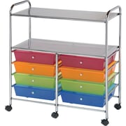 "Blue Hills Studio Double Storage Cart W/8 Drawers 31.74"" x 35"" x 14.75""-Multi"