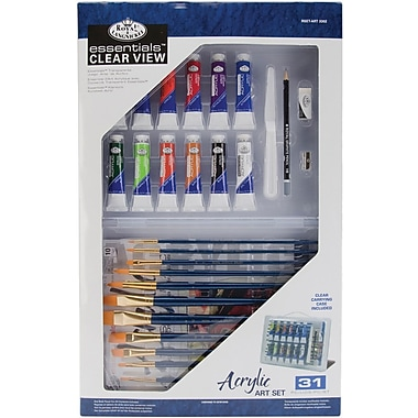 Royal Brush Clearview Large Acrylic Painting Art Set