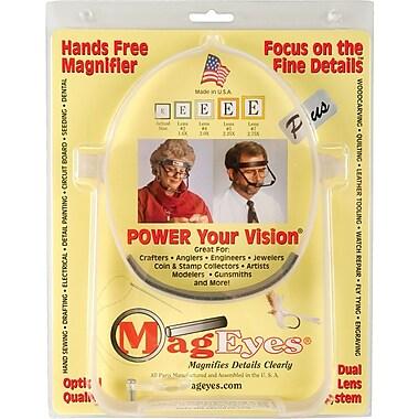 MagEyes Magnifier, Bi-Focal Lens - White