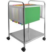 Advantus Cropper Hopper Hanging File Trolley, Silver