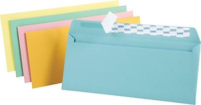 Staples EasyClose Pastel Color #10 Envelopes, 4 1/8