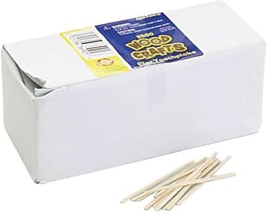 Spectra® 369001 Flat Wood Toothpick, Natural Wood