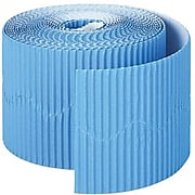 """Pacon Scalloped Bordette Decorative Border, 2 1/4"""" x 50', Blue"""