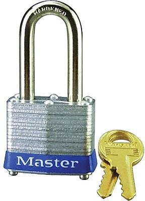 Master Lock® 3DLF Non-Rekeyable Laminated Padlock, Keyed Different