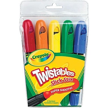 Crayola® 52-9505 Twistables Slick Stix, Assorted, 5/Pack