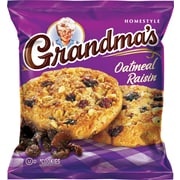 Grandma's® Homestyle Oatmeal Raisin Cookies, 2.5 oz. Bags, 60 Bags/Box