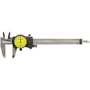 Mitutoyo 505-671 Dial Caliper, 0 - 150 mm, Yellow Face