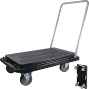 "Deflecto Folding Platform Cart with 5"" Casters"