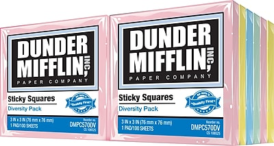 picture regarding Dunder Mifflin Name Tag Printable identified as Dunder Mifflin Sticky Squares 3\