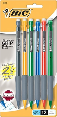 BIC Matic Grip® Mechanical Pencils, 0.5mm, 6/Pack