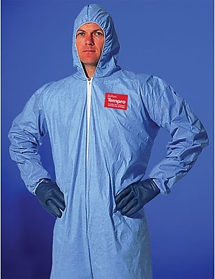 Dupont™ Tempro® TM127S Chemical Protective Coverall, Light Blue, 4X-Large