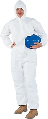 KleenGuard® A40 Liquid and Particle Protective Coverall W/Hood, White, Large