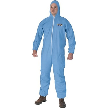 KleenGuard® A65 Flame Resistant Protective Coverall W/Elastic Wrists, Ankles & Hood, Blue, X-Large
