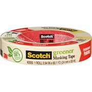 "Scotch® Greener Masking Tape, 1"" x 60 Yards"
