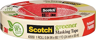 Scotch® Greener Masking Tape for Performance Painting, .94