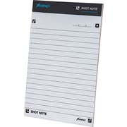 "Ampad® Shot Note® Writing Pad, Wide Ruled, 5"" x 8"", 40 Sheets, Each"