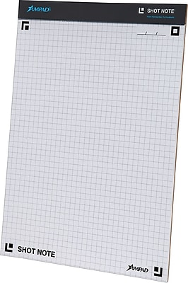 Ampad® Shot Note® Writing Pad, Dot Graph Ruled, 8 1/2