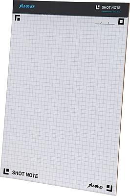 ampad u00ae shot note u00ae writing pad  graph ruled  40 sheets  pad