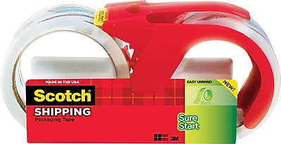 Scotch® Sure-Start Shipping Packaging Tape, 1.88