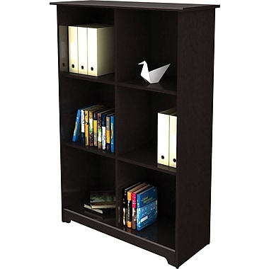 Bush® Cabot Collection 6 Cube Bookcase, Espresso Oak