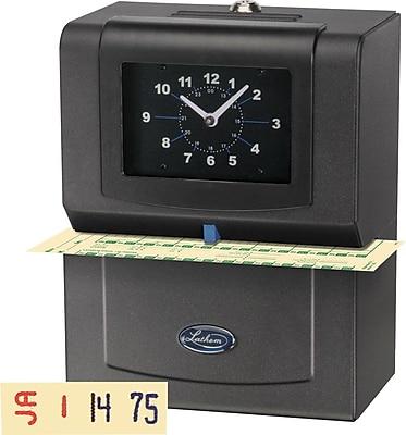 Lathem Automatic Punch Card Time Clock, Black (4006)