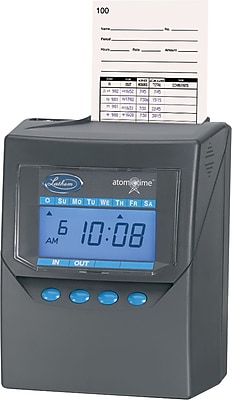 Lathem 100 Employees Automatic Punch-Card Calculating Time Clock (7500E)