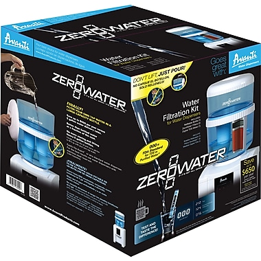 Avanti® Zero Water Kit, Filtration Water Cooler Bottle w/ Electronic Tester