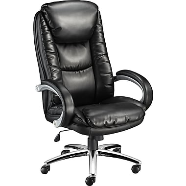 Staples Westerly Bonded Leather Managers Chair, Black