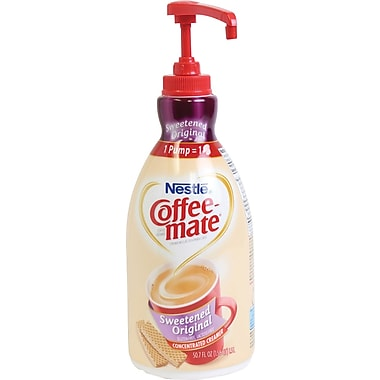 Nestlé® Coffee-mate® Coffee Creamer, Sweetened Original, 1.5L liquid pump bottle, 1 bottle