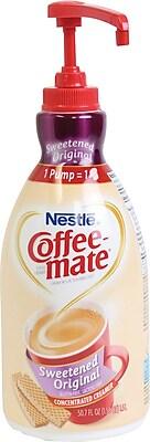 Nestle® Coffee-mate® Coffee Creamer, Sweetened Original, 1.5L Liquid Pump Bottle, 1 Each