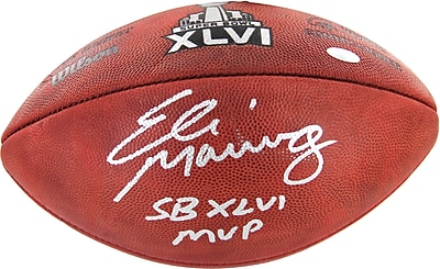 Eli Manning Hand Signed Super Bowl XLVI Football with