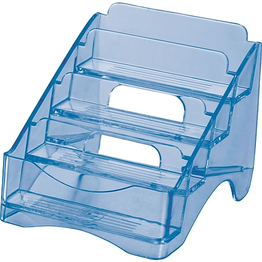letter to hr officemate 174 blue glacier 4 tier business card holder staples 23212 | s0638799 sc7?wid=512&hei=512