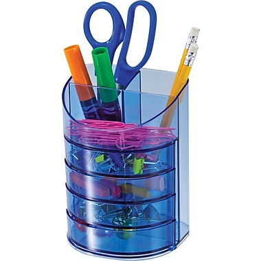 Officemate® Blue Glacier Supply Organizer, 7 Compartments