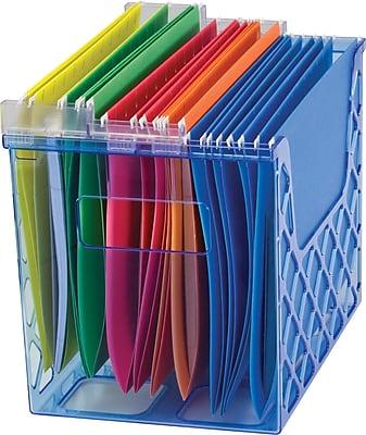 Officemate 174 Blue Glacier Desktop File Organizer Staples