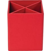 Bigso Pencil Cup with Dividers Red