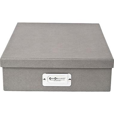 Bigso Oskar Letter Box Light Grey