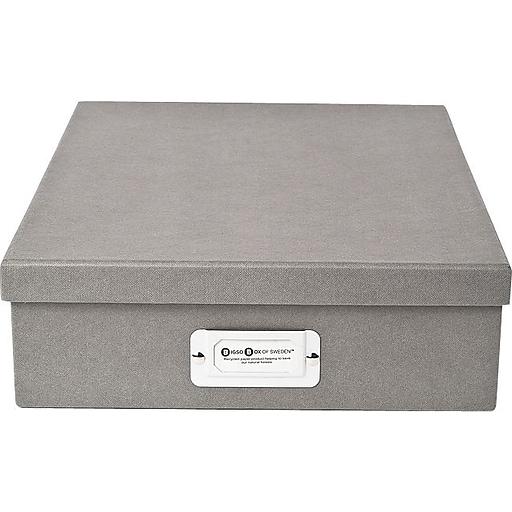 Bigso Oskar Letter Box, Light Grey