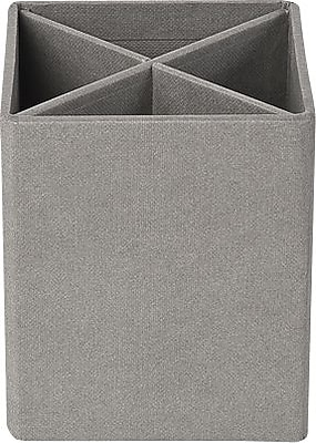 Bigso Pencil Cup with Dividers Light Grey