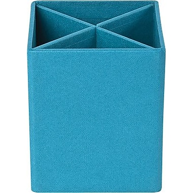 Bigso Pencil Cup with Dividers Turquoise